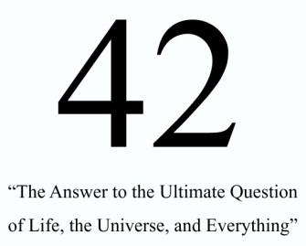42 n'est pas la bonne réponse.