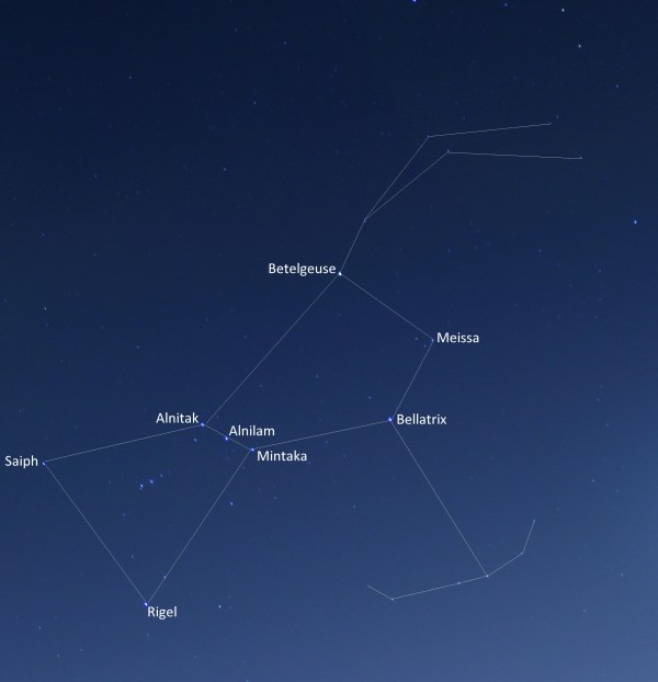 The whole Orion Constellation captured with a DLSR : space