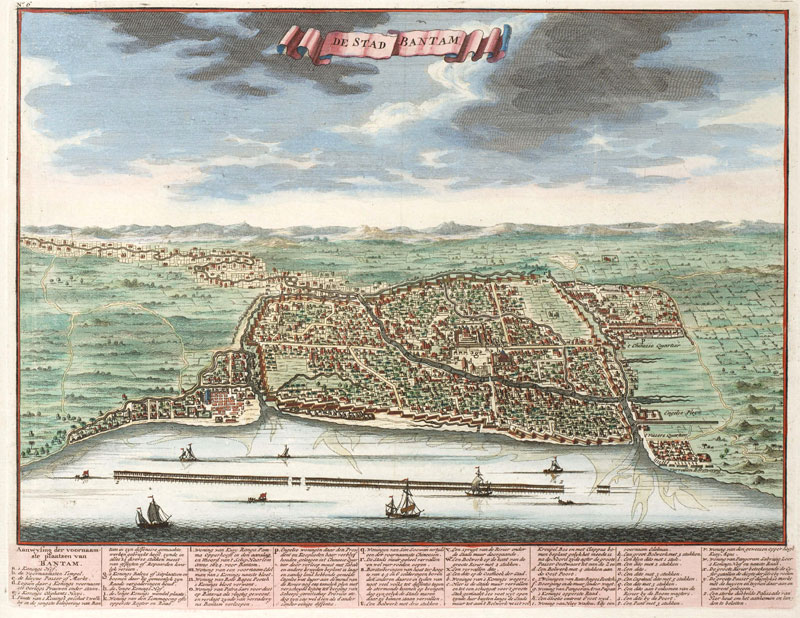 English: Banten City, year 1724