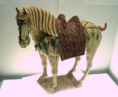 Porcelain Horse Tang Dynasty.