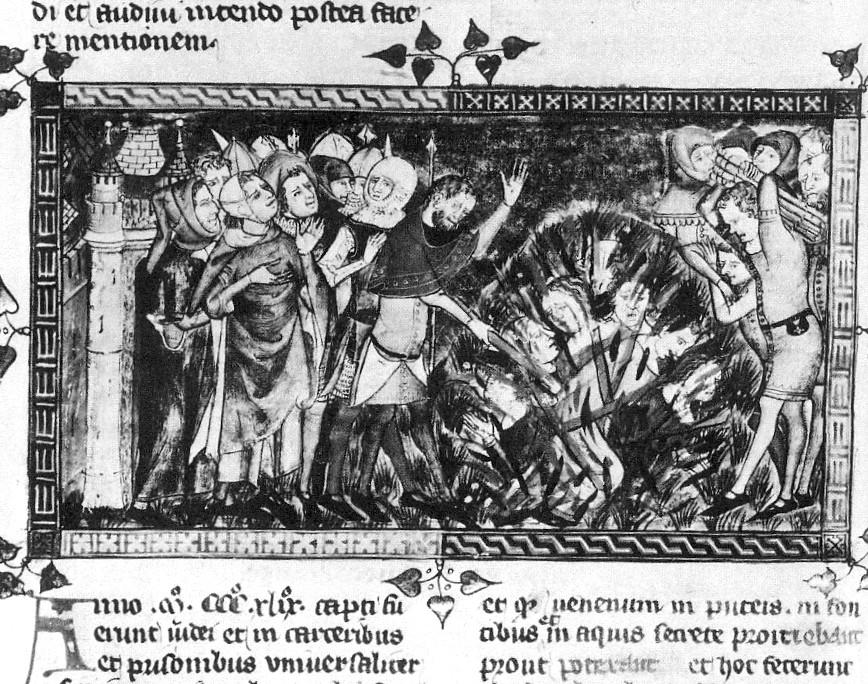 Pogrom gegen Juden im Jahre 1349 – Darstellung einer jüdischen Chronik