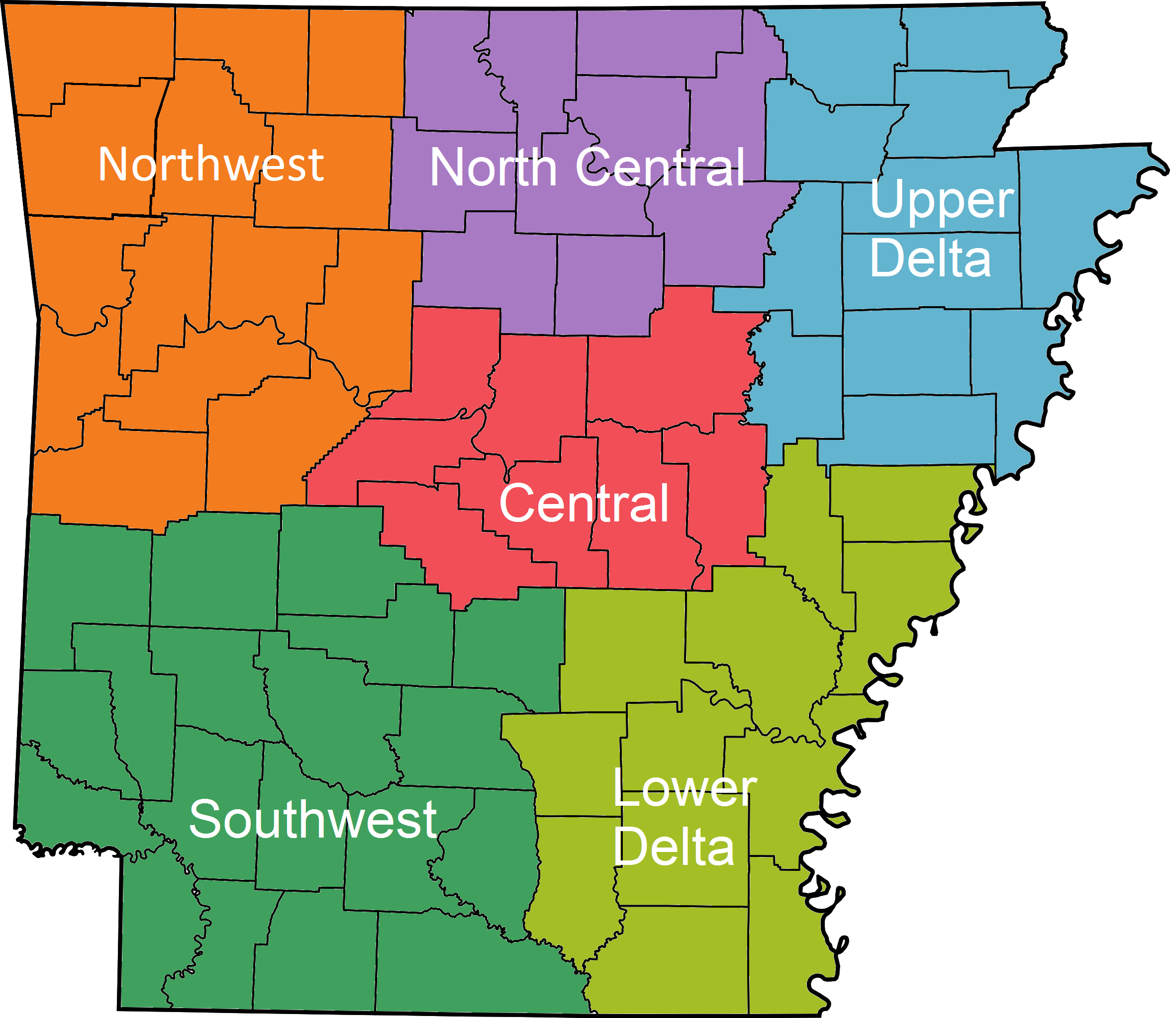 File Arkansas Regions Colored With Names