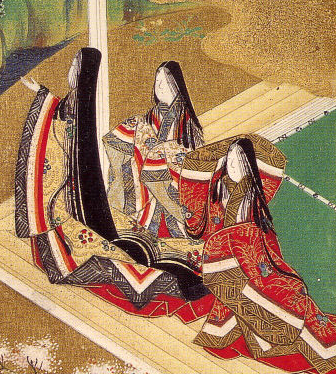 Ilustration of the Genji Monogatari, ch.5–Waka...