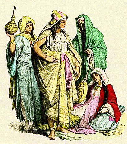 Costumes of Arab women, fourth to sixth century.
