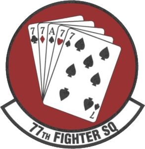 Emblem of the 77th Fighter Squadron, a squadro...