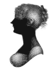 Silhouette of Cassandra Austen (1773-1845), si...
