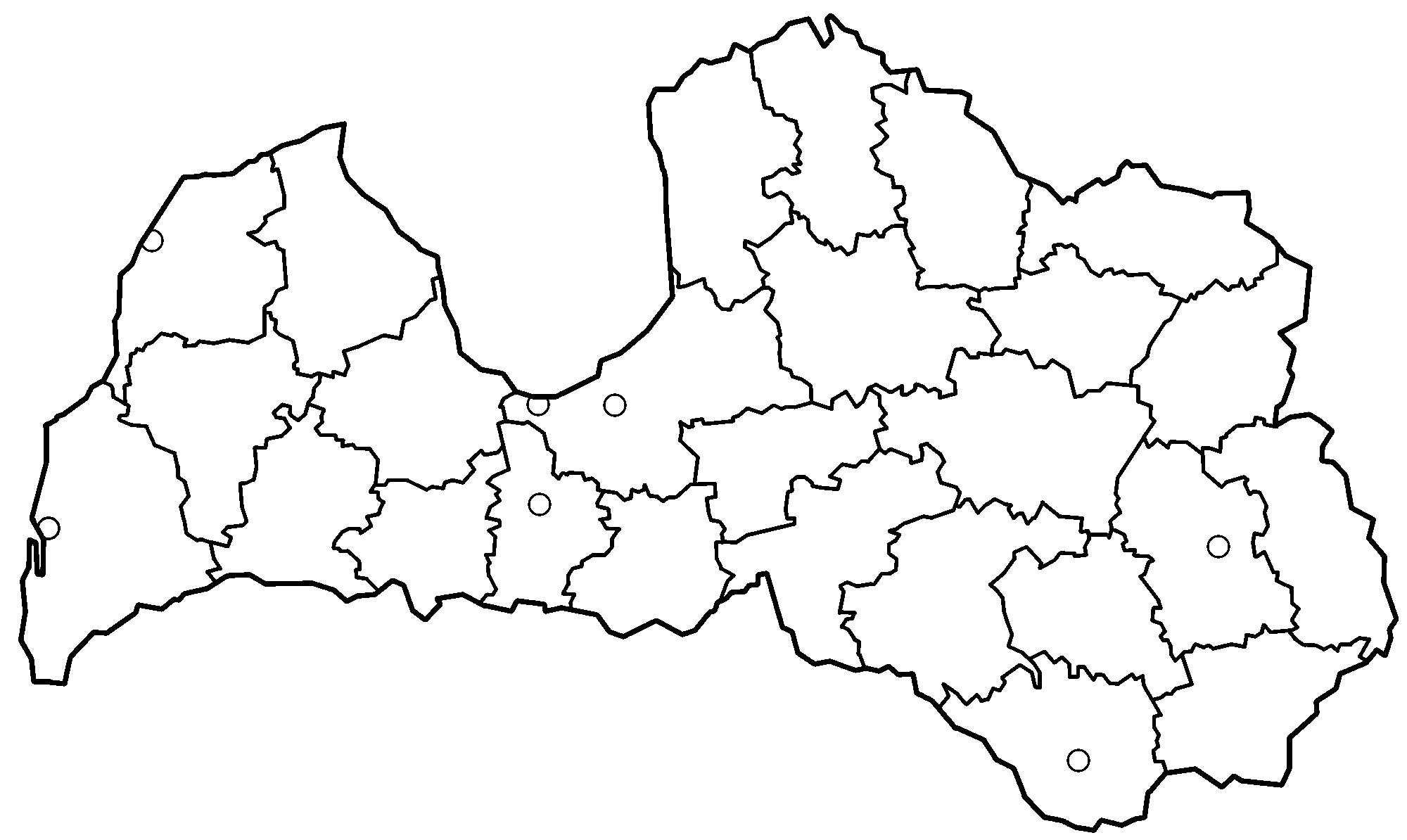 Latvia Blank Map
