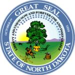 The North Dakota state seal.