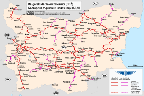 bulgarian rail map