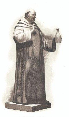 Statue of Dom Pérignon at Moët et Chandon