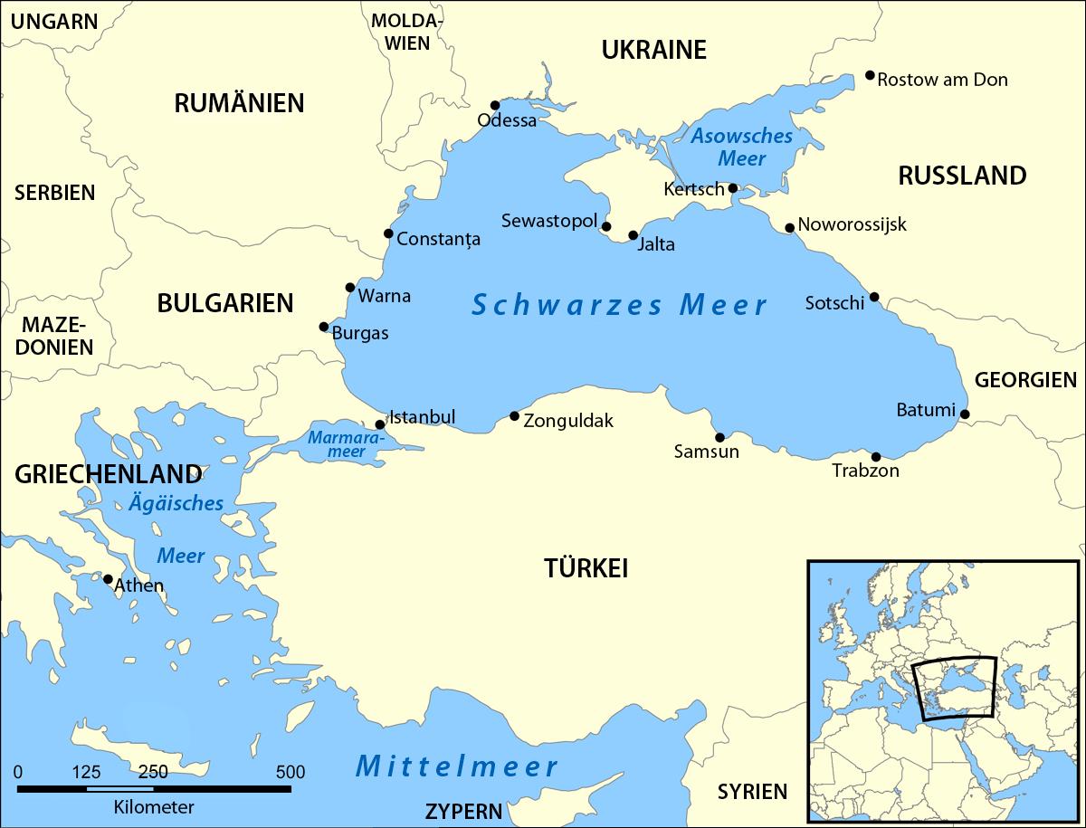 Die Krim im Schwarzen Meer (wikipedia)