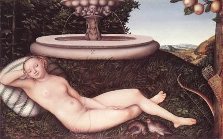 Lucas Cranach, The Nymph of the Fountain, 1534 ( Walker Art Gallery)