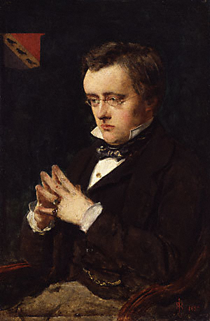 Portrait of Wilkie Collins. Paiting in the Nat...