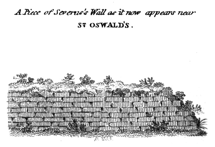 Wall elevation at St Oswald's
