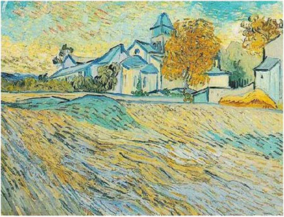The Asylum and the Chapel at Saint Remy by Vincent van Gogh