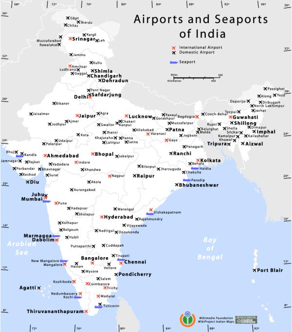 Lijst van vliegvelden in India - Wikipedia