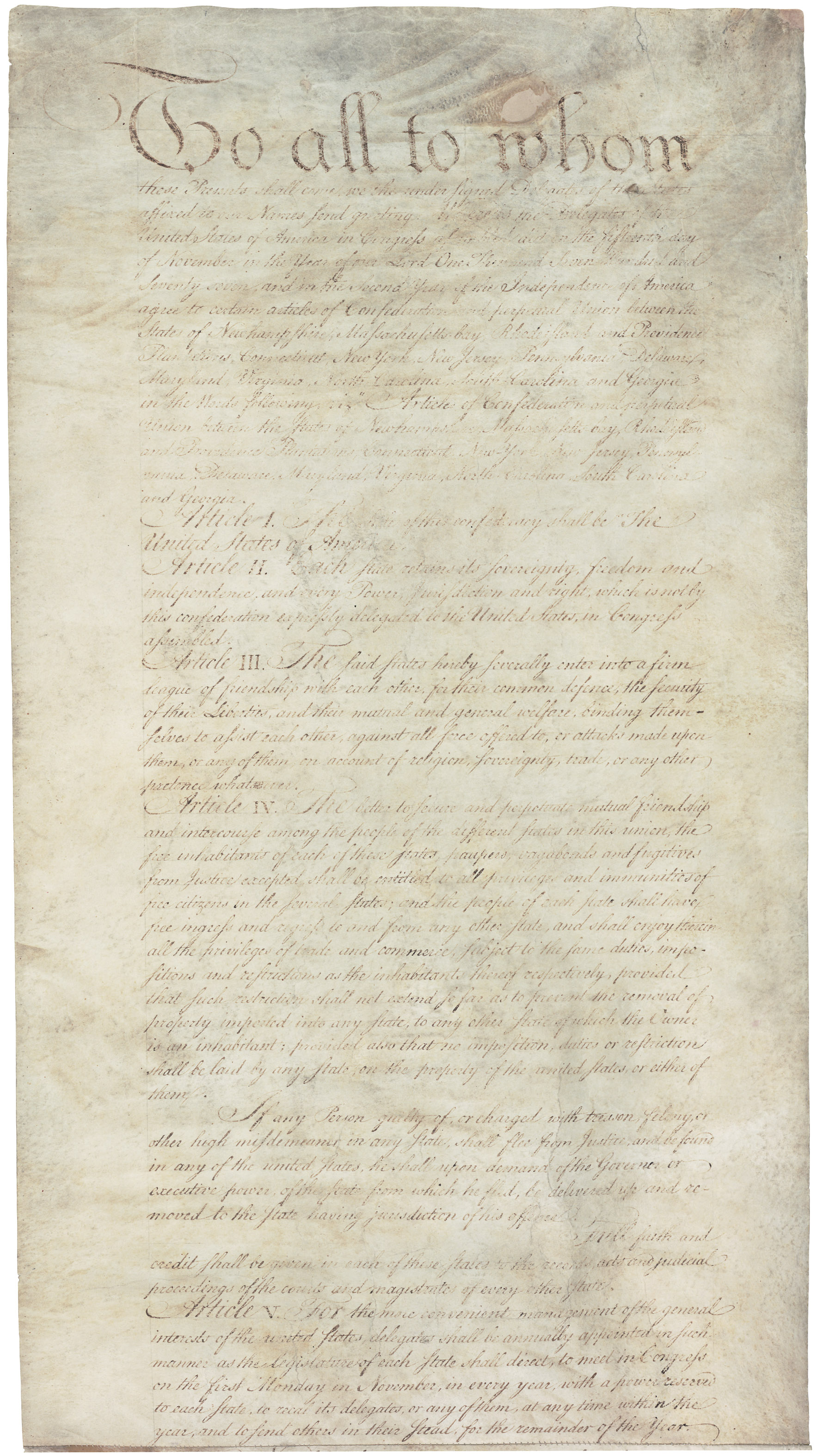 Talk Articles Of Confederation And Perpetual Union