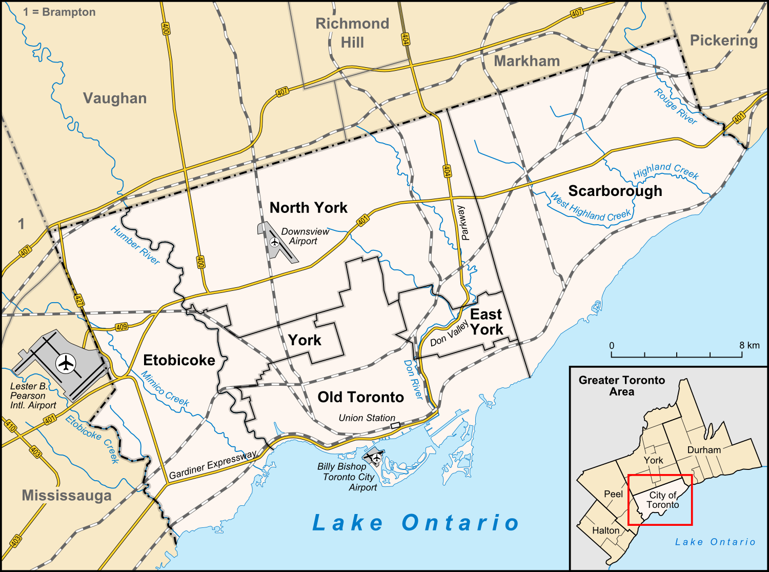 Toronto Area Map US News Travel Map Of The Usa And Canada Maps