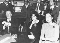 Jorge Luis Borges, Beatriz Guido y Marta lynch