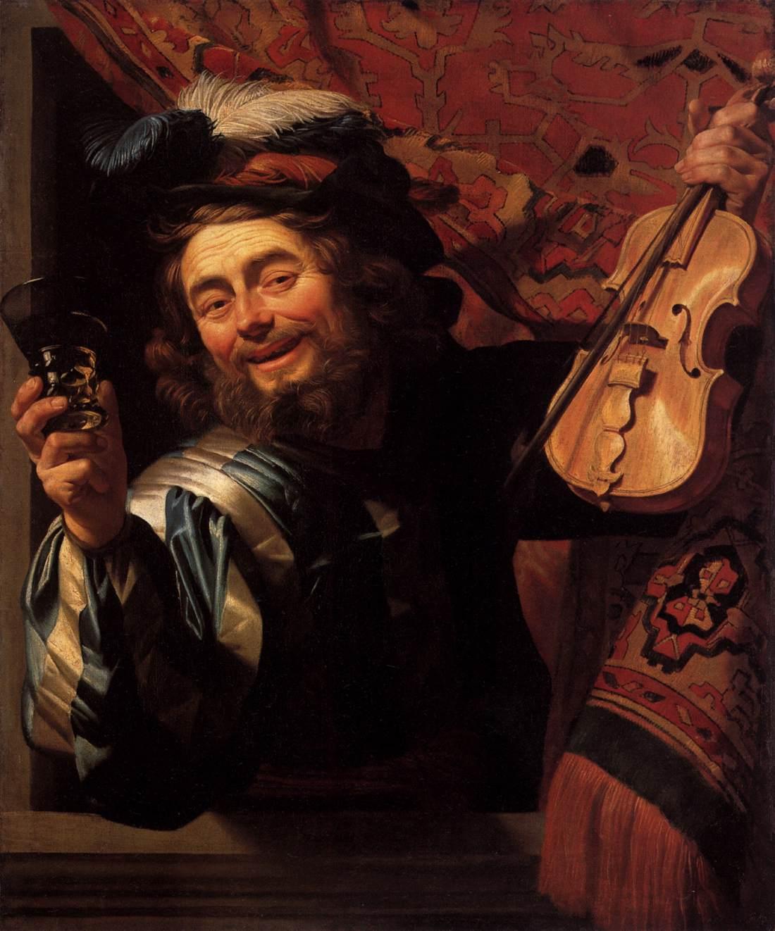 "Gerard van Honthorst, ""The Merry Fiddler,"" 1623"