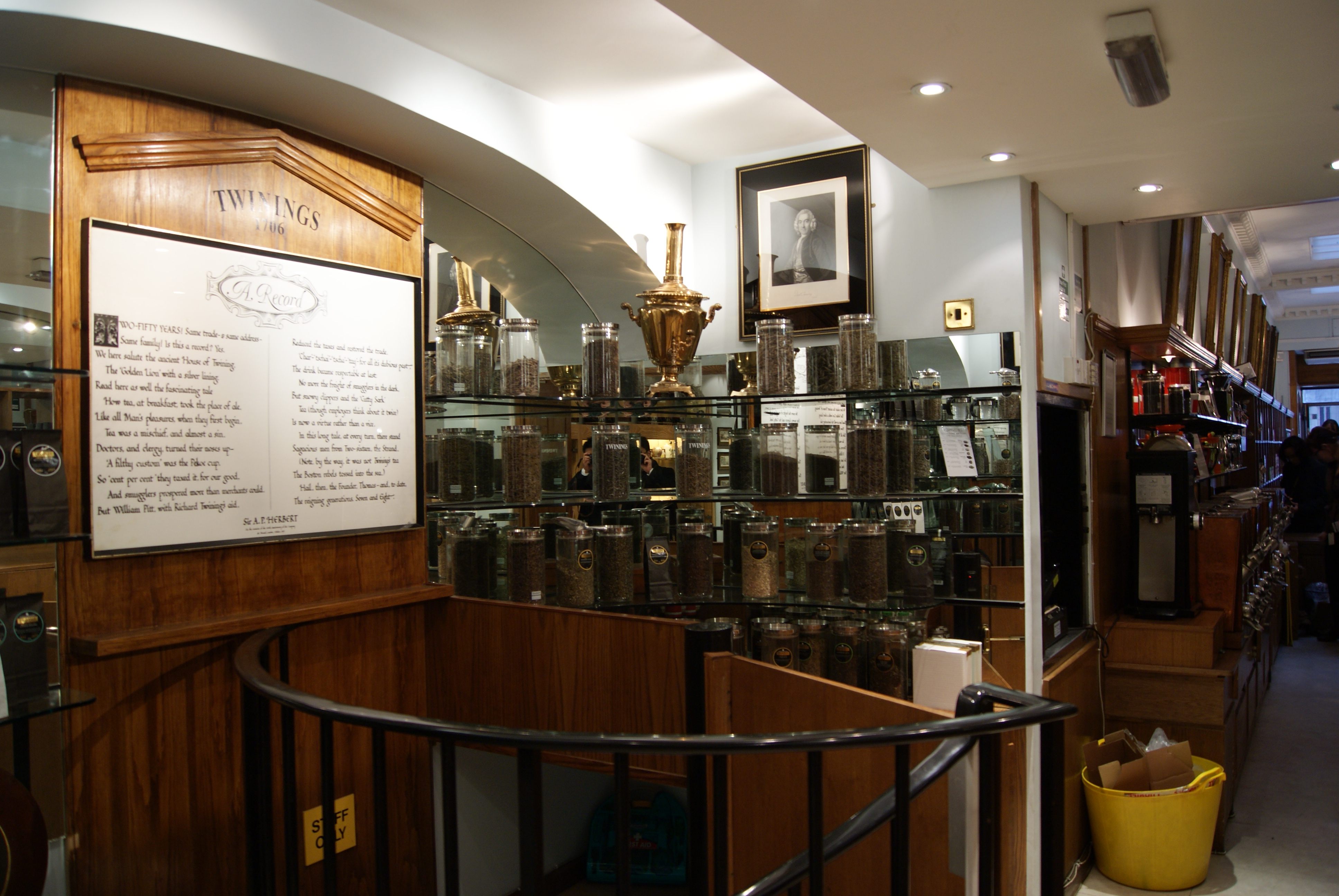 FileInterior Of The Twinings Strand Heritage Shop London