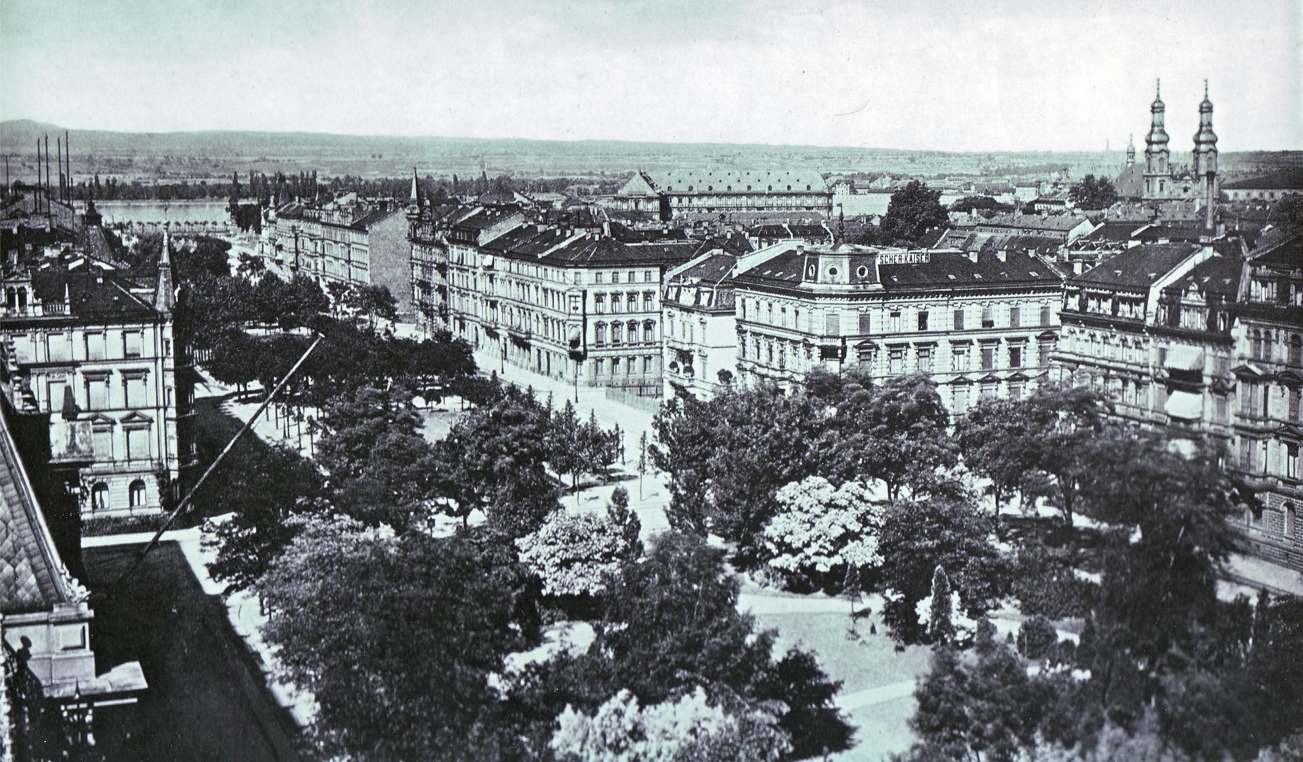 Foto der Kaiserstraße, Mainz, 1892; Quelle: wikipedia