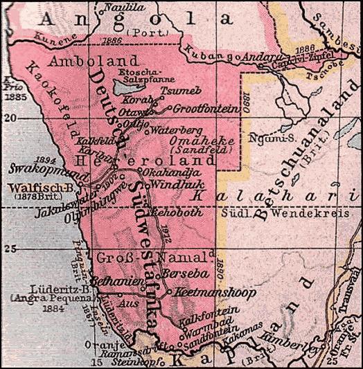 Deutsch-Südwestafrika (danach Südwestafrika)