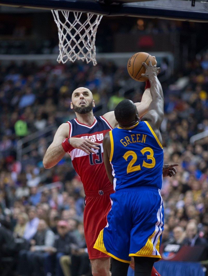 gortat,daymond green,green,nba,golden state warriors,warriors,playoff