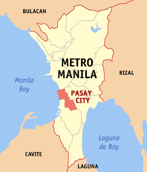Map of Metro Manila showing the location of Pa...