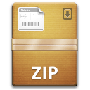 The Unarchiver zip icon.