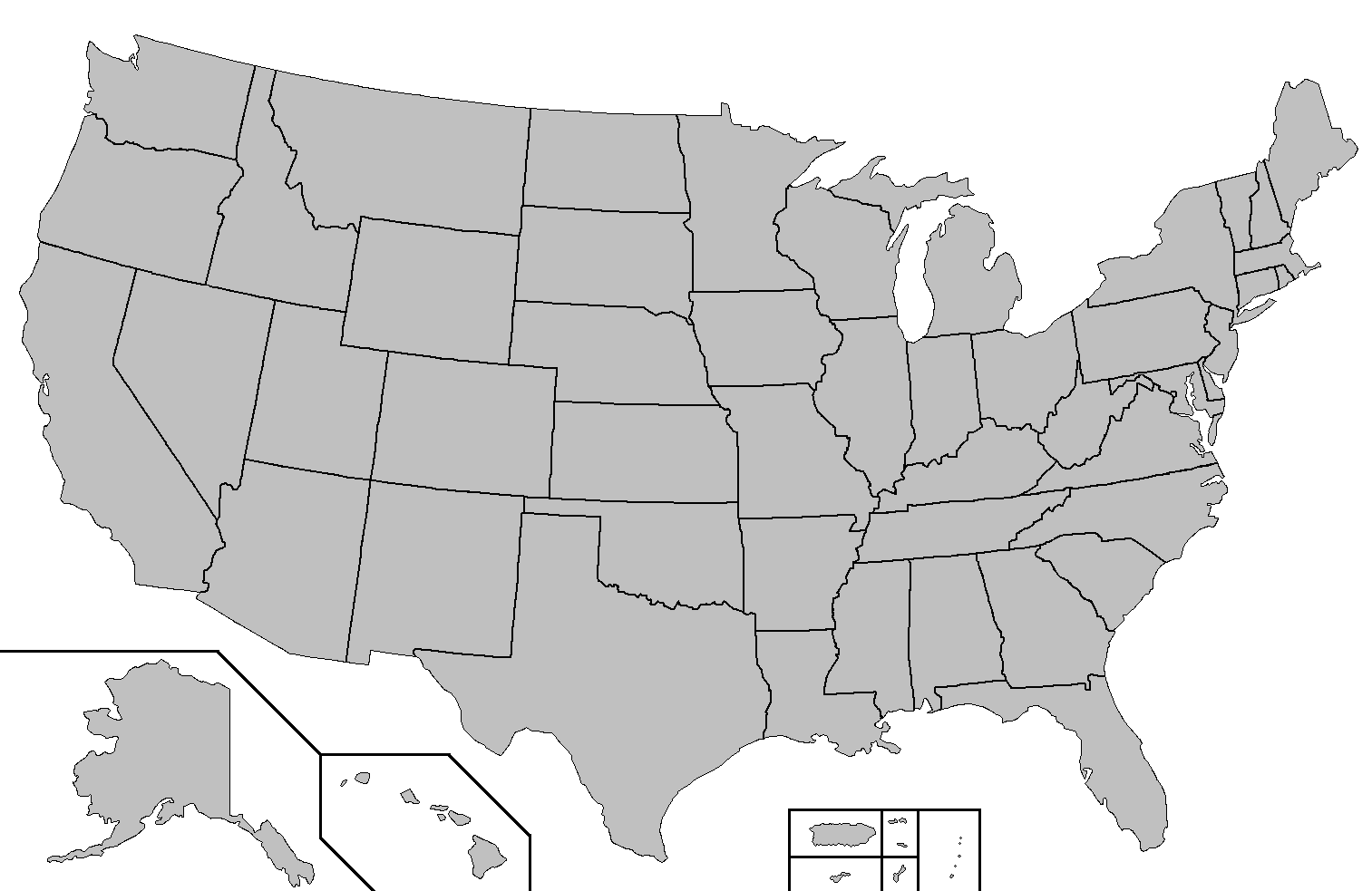 Us Map Blank Outline