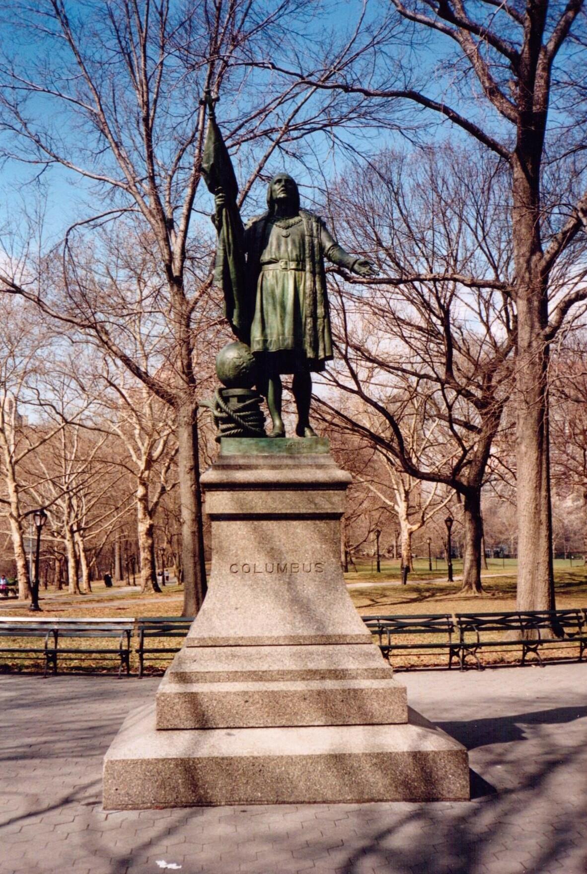 FileChristopher Columbus Statue Central Park New York City By Jernimo Suol 1995jpg