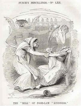 English: Punch Cartoon from 1843 criticizing t...