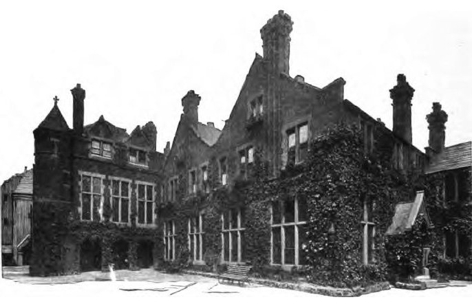 Photograph of early settlement house, Toynbee Hall circa 1902.