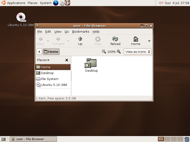 Ubuntu 5.10 (Breezy Badger)
