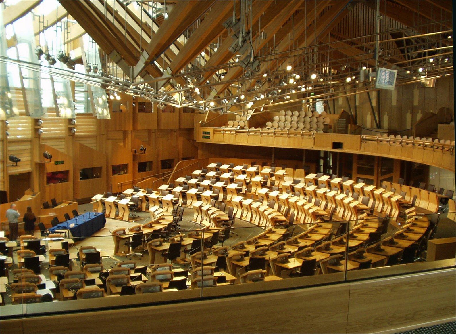 Scottish Parliamwnr Debating Chamber