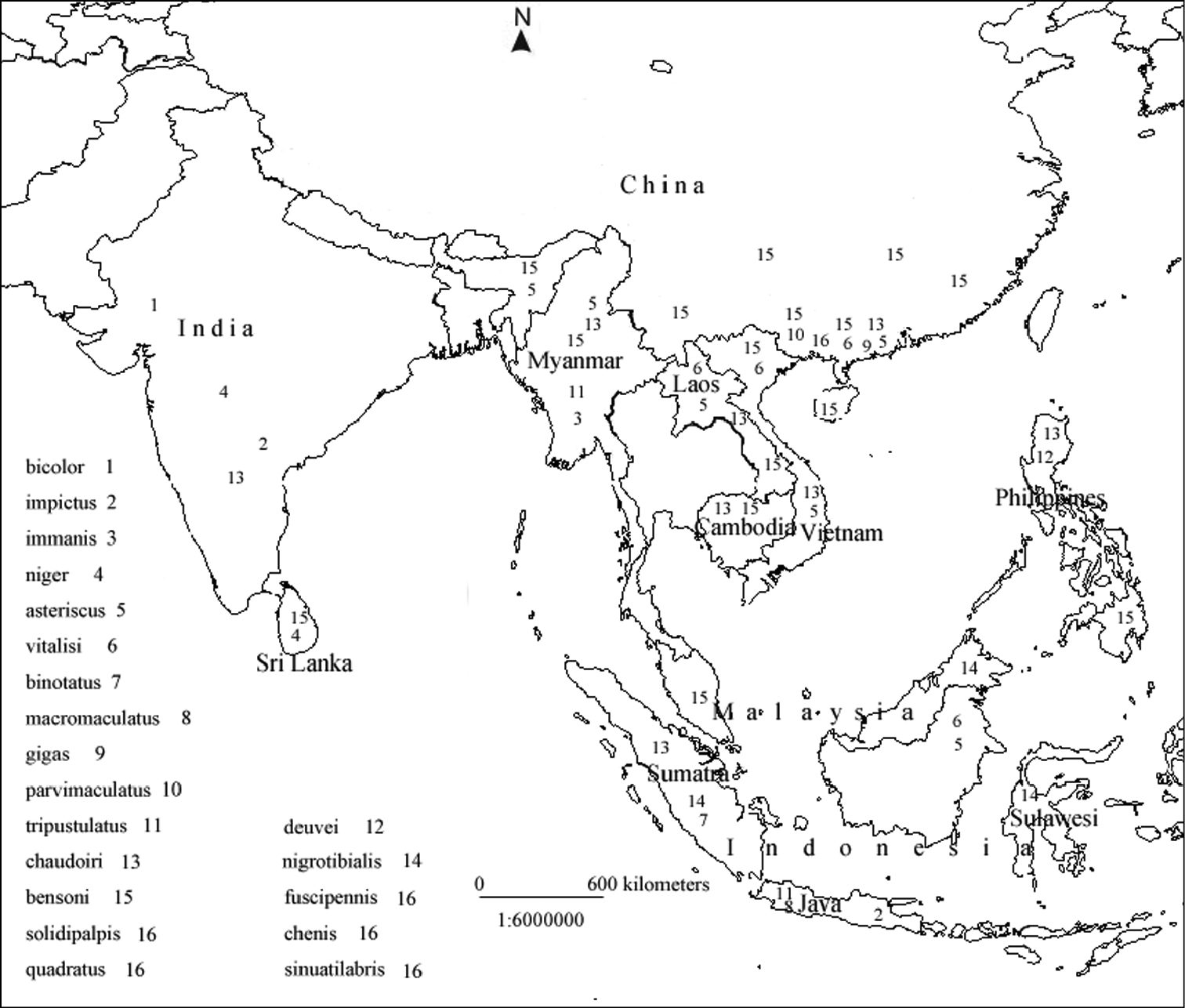 Map Of Asia Printable