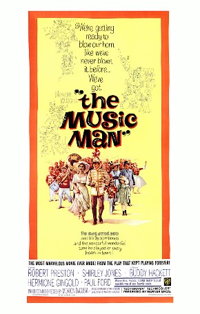 The movie poster for The Music Man
