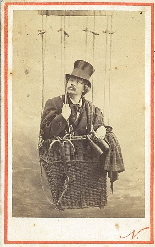 Felix Nadar in a balloon, late 1860s photographer Felix Nadar (4559203377)