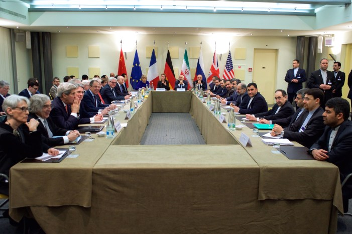 Officials negotiating over the Iranian Nuclear Program in 2015