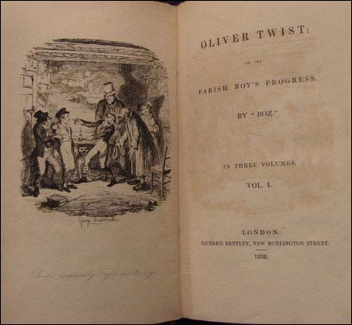Första utgåvan av Oliver Twist.