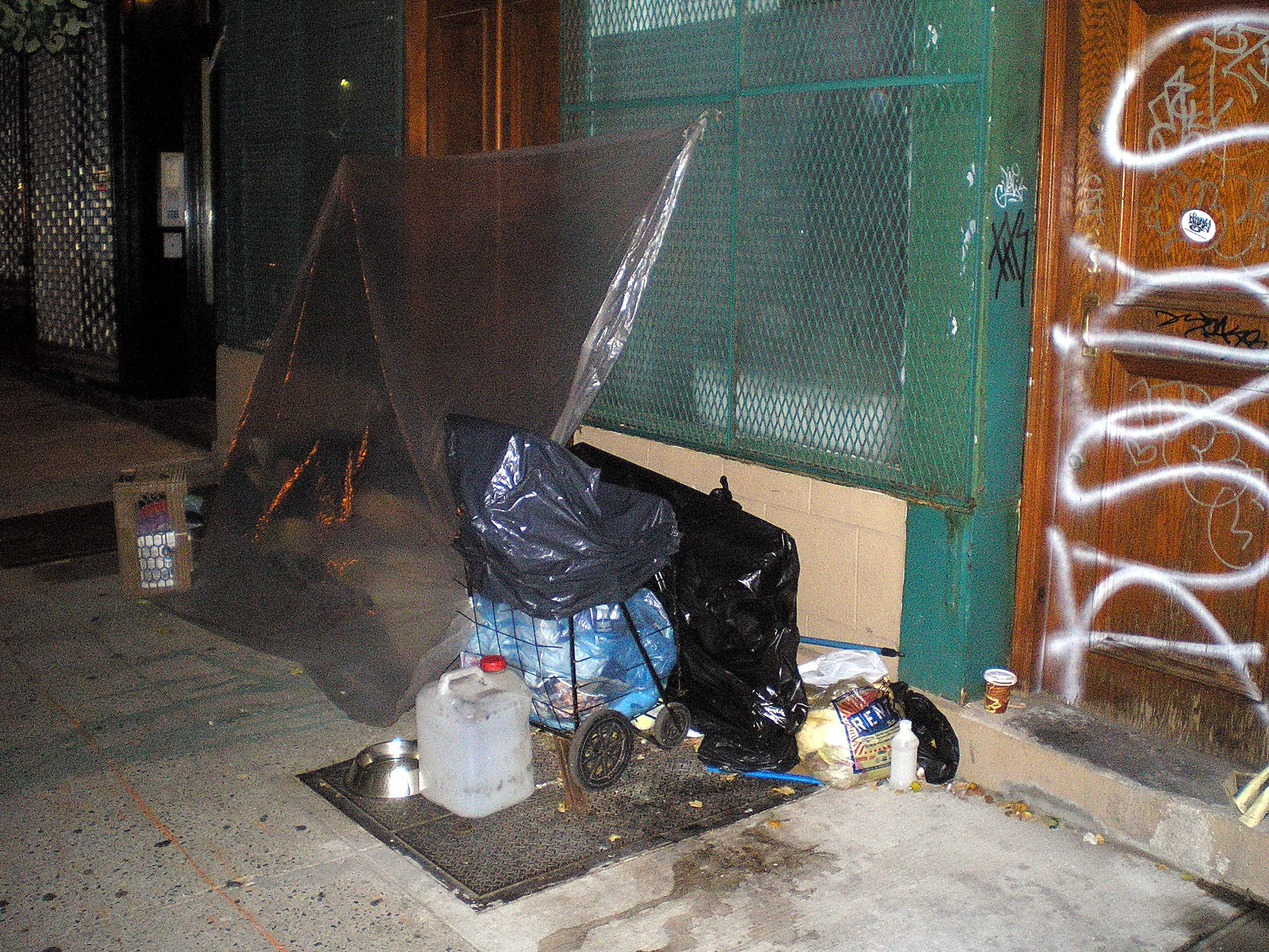 homeless street shelter
