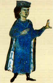 Miniature of William from a 13th-century chans...