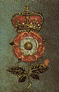 Tudor rose badge from the Pelican Portrait of ...