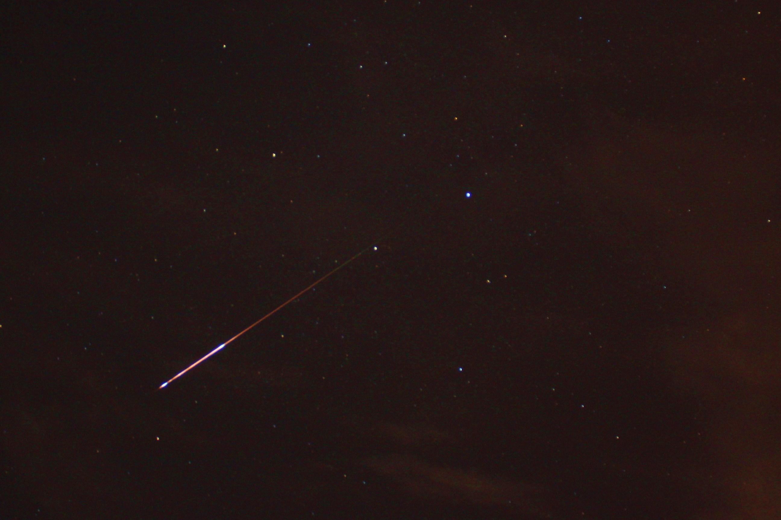 Perseid meteor shower in Austin Texas.