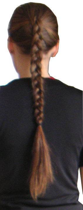 English: Inverted French Braid. Deutsch: Zopf....
