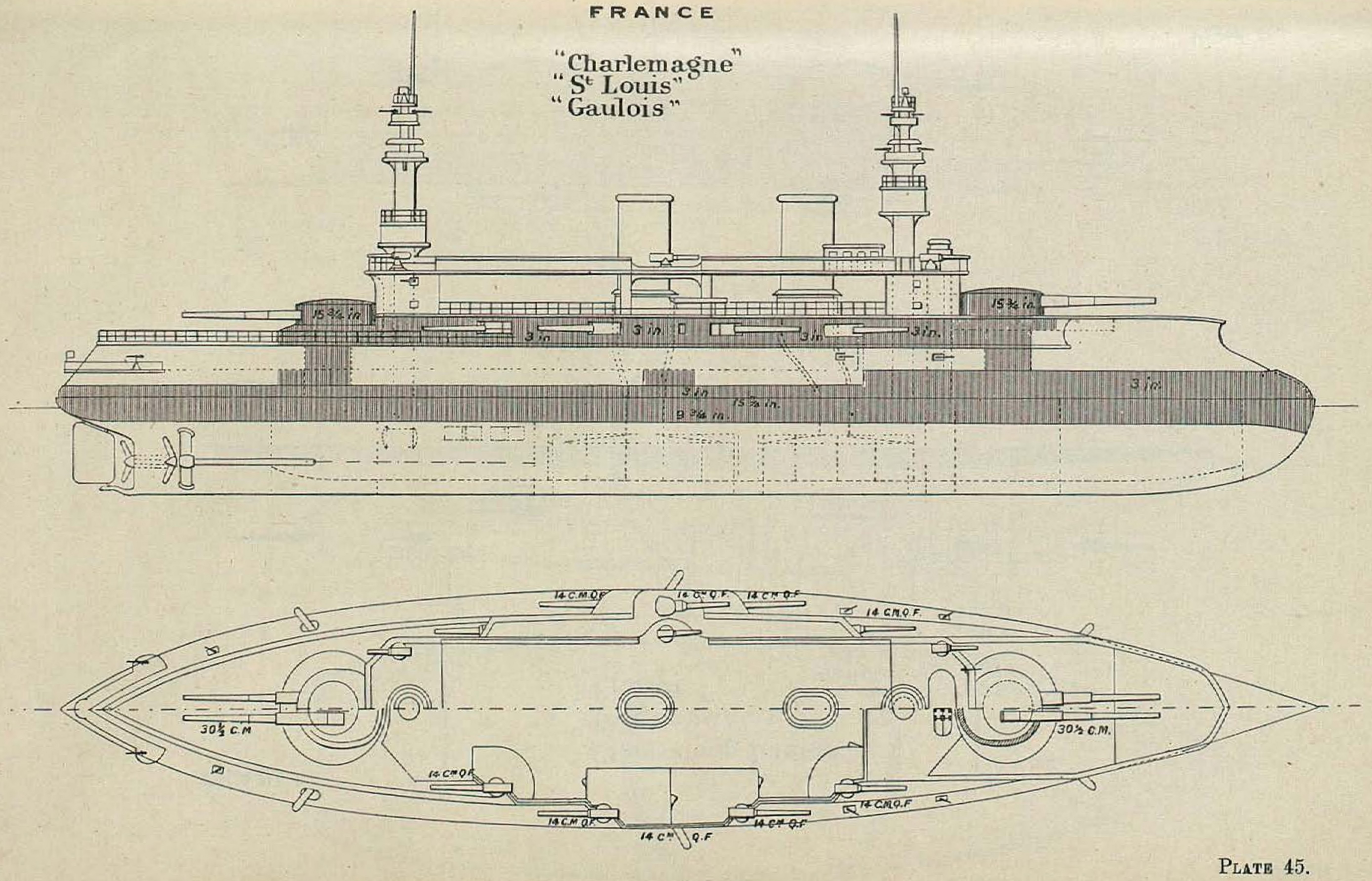 File Charlemagne Class Battleship Diagrams Brasseys