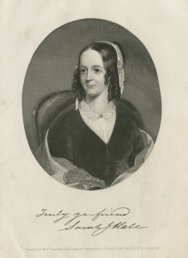 Sarah Josepha Buell Hale as pictured in Godey's Lady Book