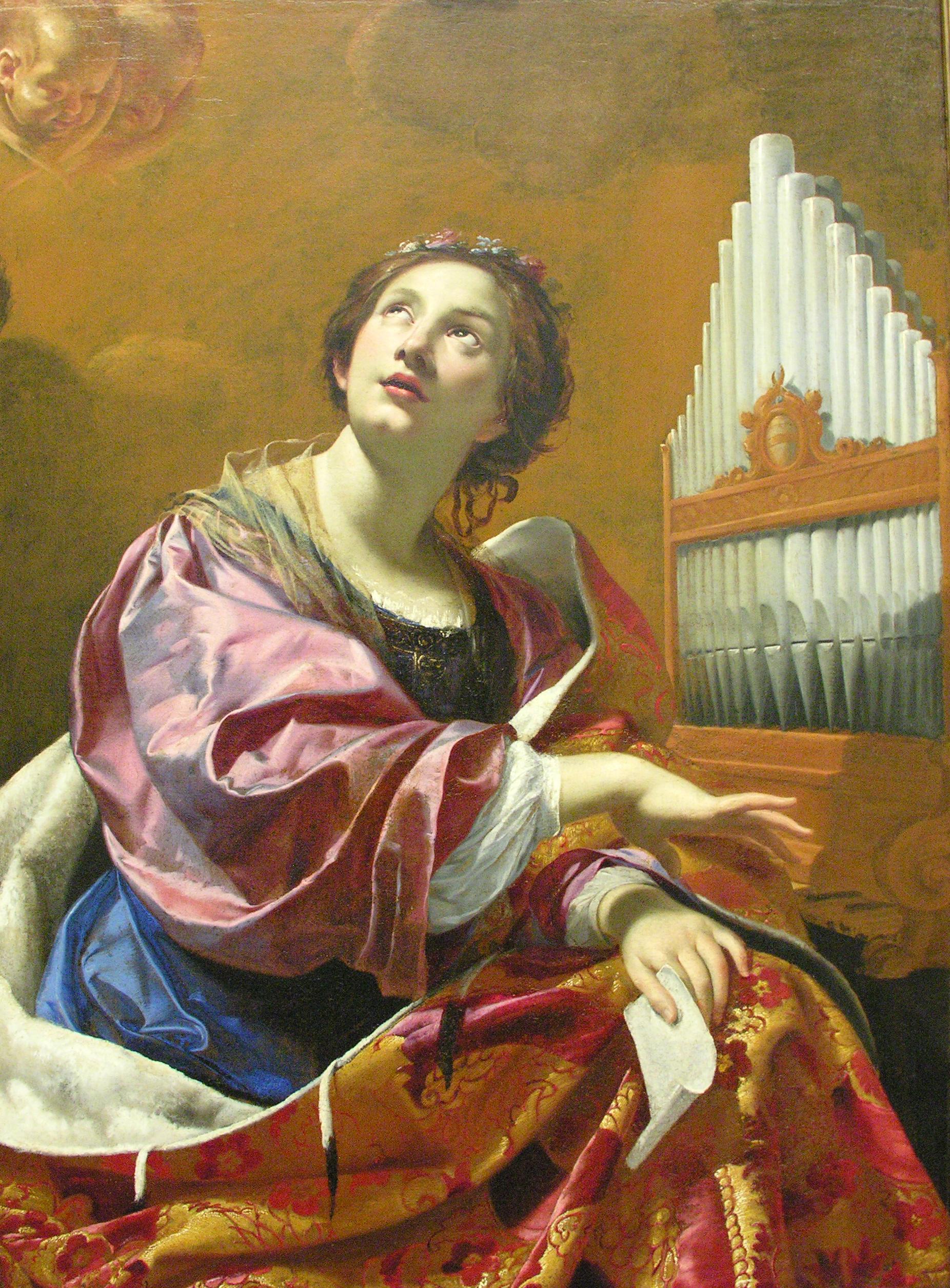 Kết quả hình ảnh cho thánh nữ cecilia