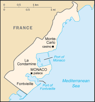 An enlargeable basic map of Monaco